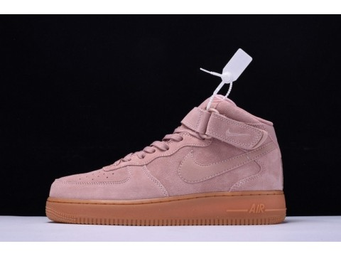 Nike Air Force 1 Mid 07 Suede Particle Pink AA1117-600 for Men and Women-30