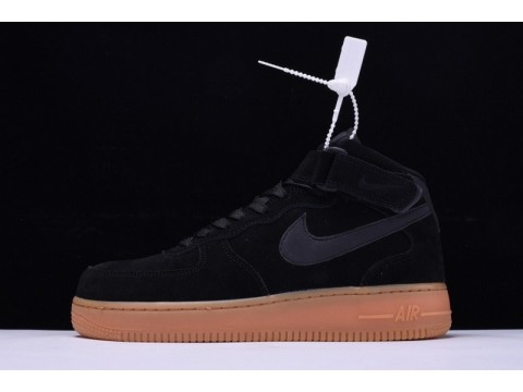 """Nike Air Force 1 Mid 07 """"Suede Black"""" AA0284-002 for Men and Women-30"""