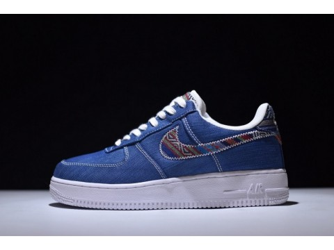 Nike Air Force 1 07 Lv8 Blue 823511-400 for Men and Women-30