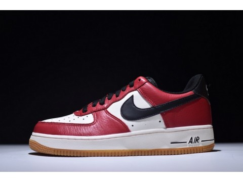 Nike Air Force 1 07 Low Chicago White Black Red 820266-600 for Men and Women-30