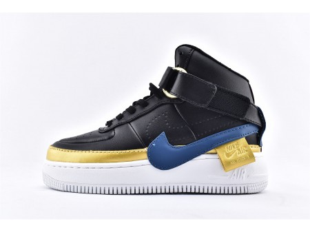 Wmns Nike Air Force 1 Jester High XX Black Blustery Gold AR0625-001 Women-20