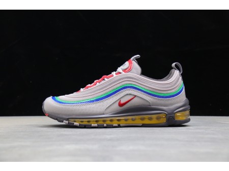 Nike Air Max 97 Sportswear POWER RESET Grey Green-Yellow CI5012-001 Men and Women