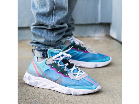 "Nike React Element 87 ""Royal Tint"" Blue AQ1090-400 Men Women-20"