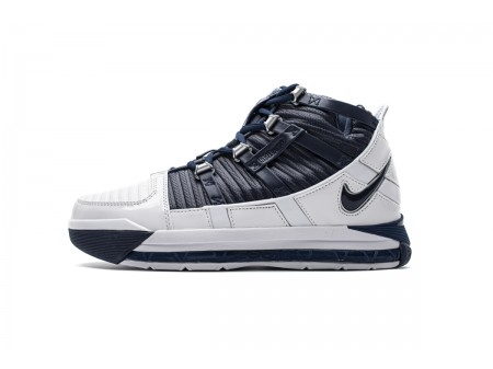 Nike Zoom Lebron III QS White/Midnight Navy AO2434-103 Men-20