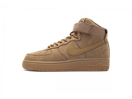 Nike Air Force 1 High '07 WB Flax Wheat Gum Light Brown CJ9178-200 Men Women