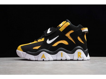 Nike Air Barrage Mid QS Bright Yellow Black White CD9329-002 Men and Women-20