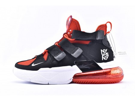 "Nike Air Edge 270 High ""NY VS NY"" Black Red Basketball Shoes CJ5846-800 Men and Women"