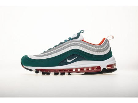 "Nike Air Max 97 GS ""Miami Dolphins"" Rainforest White Team Orange 921522 300 Men and Women"