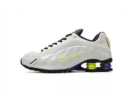 Nike Shox R4 White Flash Volt CI1955-187 Men Women