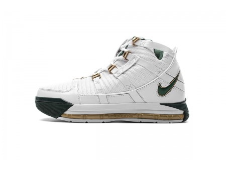 "Nike Zoom Lebron III QS ""SVSM Home"" White/Deep Forest AO2434-102 Men-20"