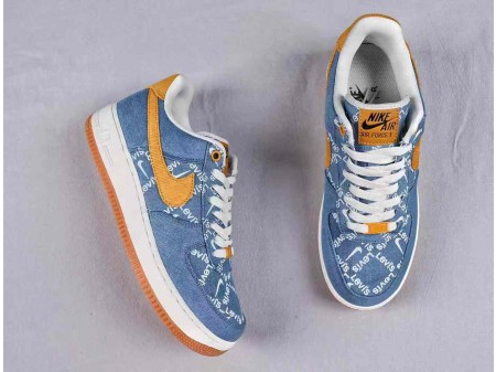 Nike Air Force 1 Low AF1 Retro EYBL Dragon Blue Men Women AJ1872-300