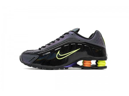 Nike Shox R4 Black Neon Volt Total Orange CI1955-074 Men Women-20