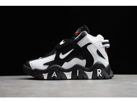 Nike Air Barrage Mid QS Peak White-Coal Ball Black Sport Red CD9329-011 Men and Women-20