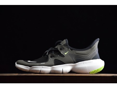 Nike Free Rn 5.0 Black/Anthracite/Volt/White 2019 AQ1289-003 Men-20