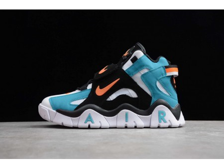 Nike Air Barrage Mid QS White Black Lake Blue Orange CD9329-003 Men and Women-20