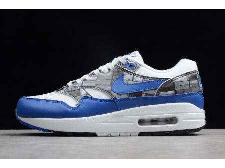 Atmos x Nike Air Max 1 Print We Love Nike White/Game Royal-Neutral Grey AQ0927-100 Men-20