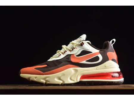 "Nike Air Max 270 React ""Bright Violet"" Coffee/Orange/Yellow CT2864-300 Men and Women-20"