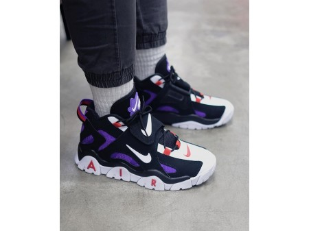 Nike Air Barrage Mid Raptors QS Black White Purple CD9329-001 Men and Women-20