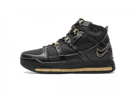 Nike Zoom Lebron III QS Black/Metallic Gold AO2434-001 Men