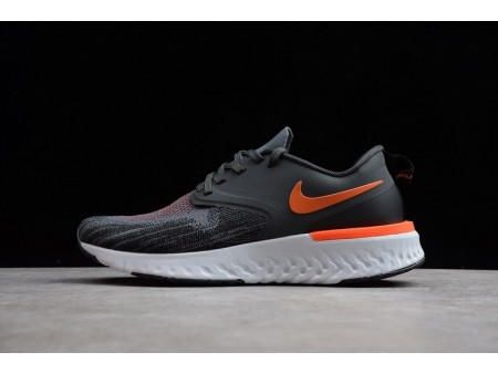 Nike Odyssey React 2 Flyknit Black Grey Orange AH1015-403 for Men-20