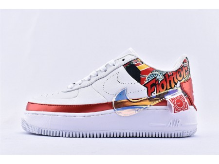Wmns Nike Air Force 1 Jester Low XX FIBA China Exclusive White Red /Mult Colour CK5738-191 Women-20