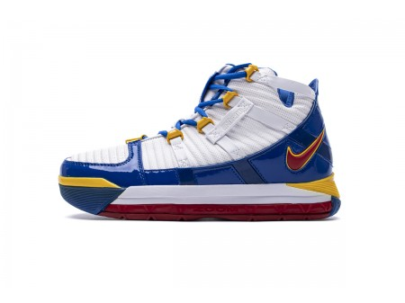 Nike Zoom Lebron III QS White Blue Yellow AO2434-110 Men-20