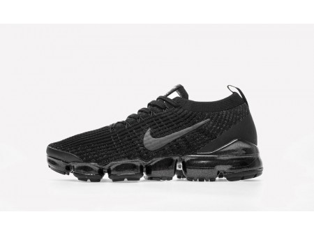 "Nike Air VaporMax Flyknit 2019 3.0 ""Triple Black"" MenandWomen-20"