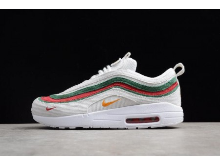 Nike Air Max 1/97 VF SW White/Red-Green AJ4219-163 Men Women-20