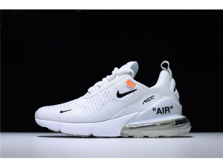 Off-White x Nike Air Max 270 Triple White Running Shoes Men Women-20