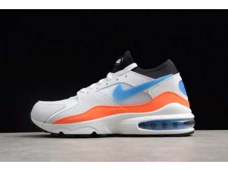 Nike Air Max 93 'Blue Nebula' White/Blue Nebula-Total Orange-Black 306551-104 Men