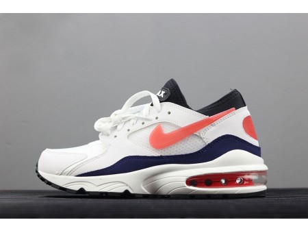 Nike Air Max 93 OG Flame Red White/Habanero Red-Neutral Indigo-Black 306551-102 Men-20
