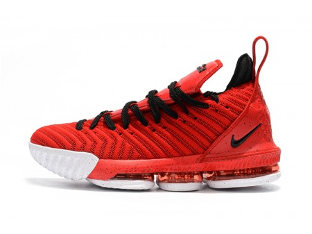 Nike LeBron 16 University Red/Black-White Men Women-20