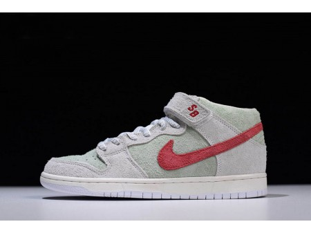 Nike SB Dunk Mid White Widow Sail/Gym Red-Fresh Mint AQ2207-163 Men-20