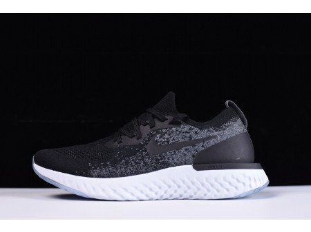 Nike Epic React Flyknit Black/Grey AQ0067-001 for Men and Women-20