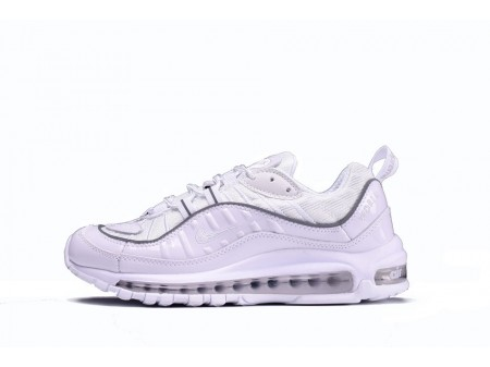 Supreme X Nike Air Max 98 All White 844694-002 for Men and Women-20