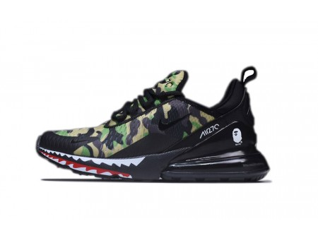 A Bathing APE x Nike Air Max 270 Black/Green Camo AH6799-003 for Men