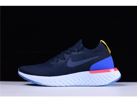 Nike Epic React Flyknit College Navy AQ0070-400 for Men and Women-20
