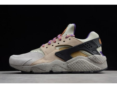 Nike Air Huarache Run Premium ACG Linen/Golden Beige-Black-Court Purple 704830-200 Men Women-20