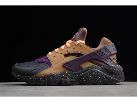 Nike Air Huarache Run Premium Anthracite/Pro Purple/Elemental Gold 704830-012 Men Women