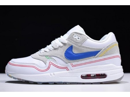 Nike Air Max 1 Centre Pompidou Pure Platinum/Royal Blue-White AV3735-002 Men Women-20