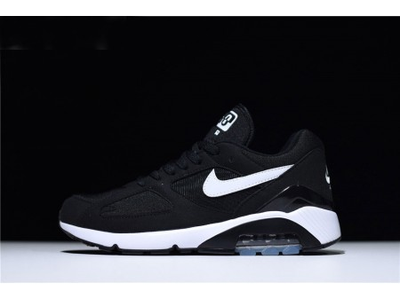 Nike Air Max 180 Black White Trainers Running Shoes Men Women-20