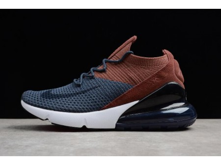 Nike Air Max 270 Flyknit Dark Blue/Brown/Black/White AO1023-004 Men Women-20