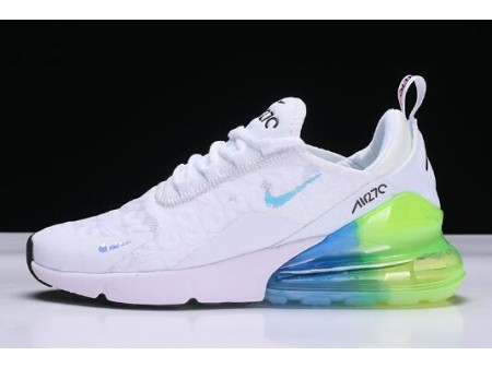 Nike Air Max 270 White/Blue-Green Running Shoes AH6789-130 Men Women-20