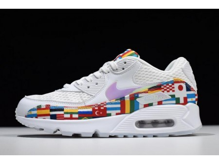 Nike Air Max 90 NIC QS International Flag White/Multi-Colour AO5119-100 Men Women-20