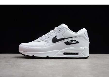 Nike Air Max 90 Essential White Black 325213-131 Running Shoes Men-20
