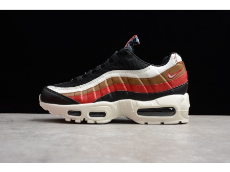 Nike Air Max 95 'Pull Tab' Black/Sail-Ale Brown-Gym Red AJ4077-002 Men Women