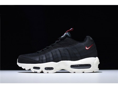 Nike Air Max 95 'Pull Tab' Black/Sail-Gym Red AJ1844-002 Men