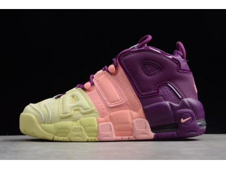 Nike Air More Uptempo GS 'Lucky Charms' Citron/Pink/Bright Purple-Night Grape AV8237-800 Women