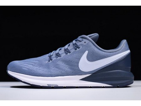 Nike Air Zoom Structure 22 Navy Blue/White AA1636-401 Men-20
