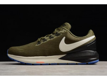 Nike Air Zoom Structure 22 Olive/Black-White AA1636-300 Men-20